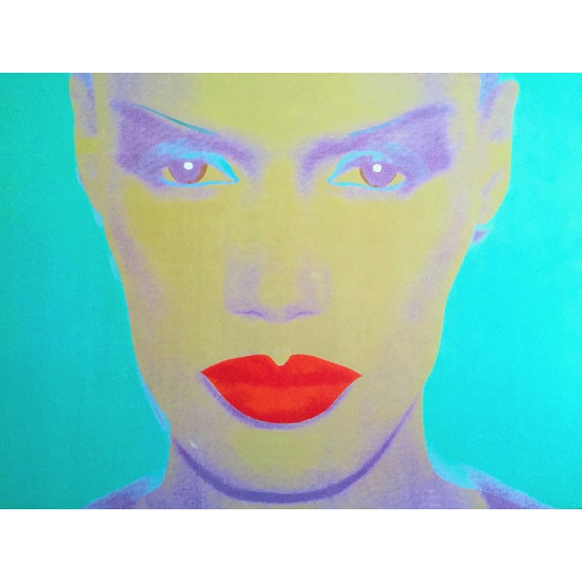 "1990s Andy Warhol Museum Rare Lmtd Edtn Lithograph Print Monumental Pop Art Poster "" Grace Jones "" 1986 For Sale - Image 5 of 13"