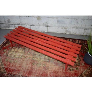 Mid Century Modern Slat Bench / Coffee Table Preview
