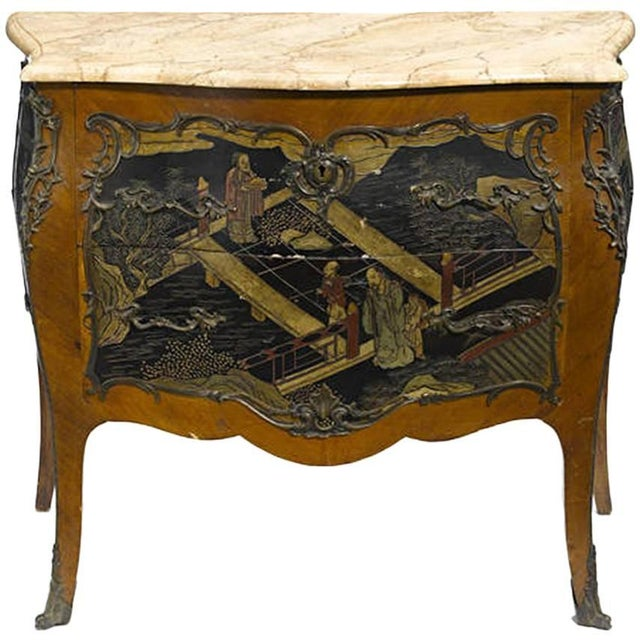 Louis XV Style Chinoiserie Coromandel Commode, 19th Century For Sale - Image 9 of 9