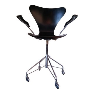 "First Edition Arne Jacobsen ""Ant"" Desk Chair For Sale"