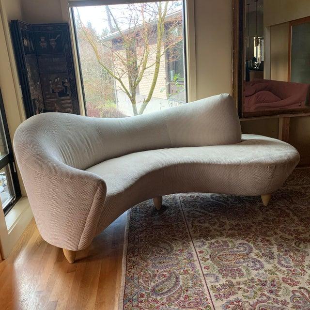 Textile 1990s Vintage Vladimir Kagan for Directional Sofa For Sale - Image 7 of 7