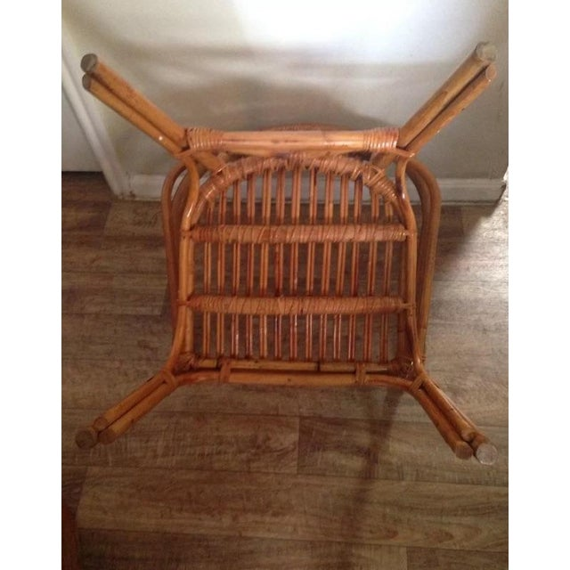 Vintage Mid-Century Rattan Side Chair - Image 5 of 6
