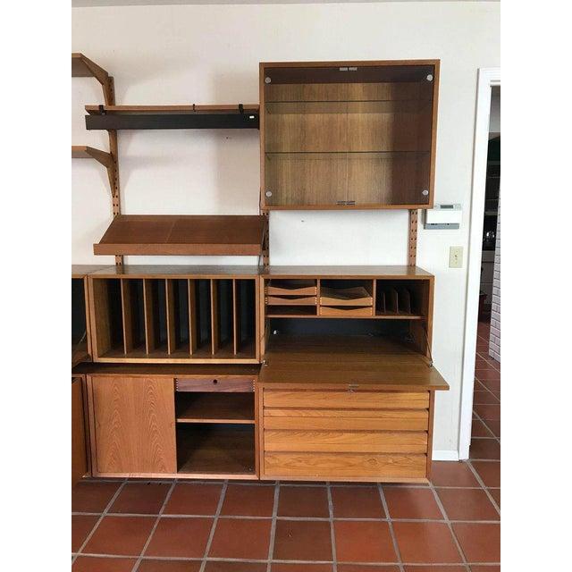 "Brown 1960s Danish Poul Cadovius ""System Cado"" Teak Floating Modular Wall Shelf System For Sale - Image 8 of 13"