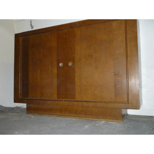 Brutalist Oak Pure Design 2 Doors Cabinet For Sale - Image 3 of 5