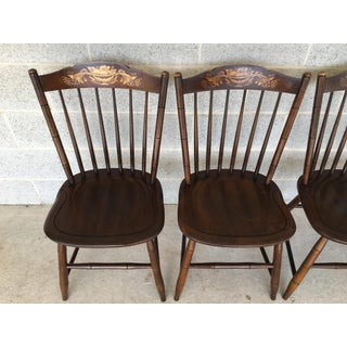 L. Hitchcock Riverton Harvest Stonington Windsor Side Chairs - Set of 4 Preview