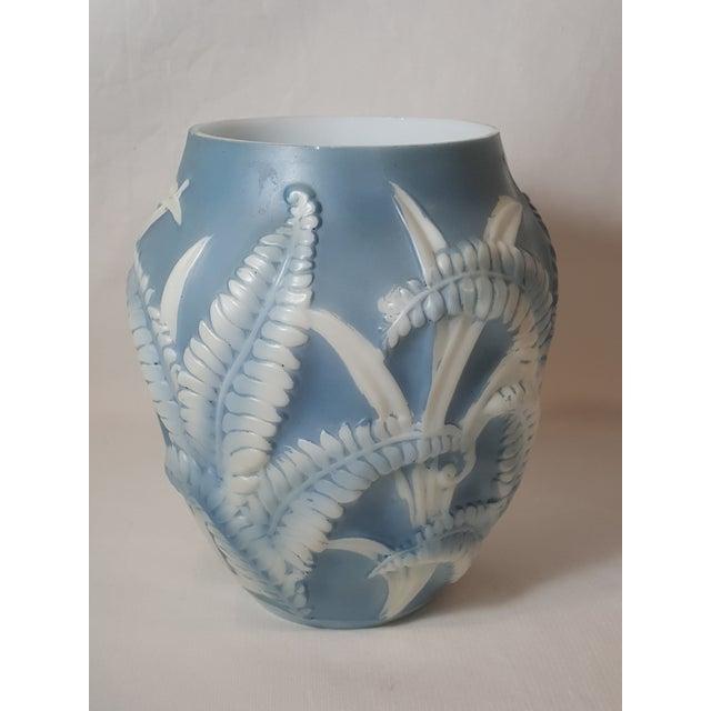 Blue Fern Phoenix Glass Vase Chairish
