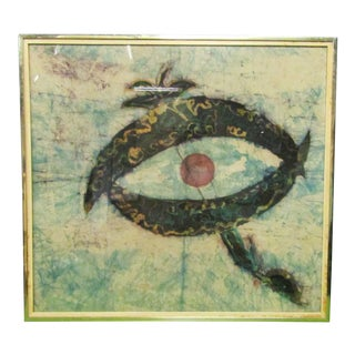 1960's Framed Abstract Batik Wall Art For Sale