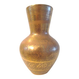 Stangl Pottery Granada Gold Vase For Sale