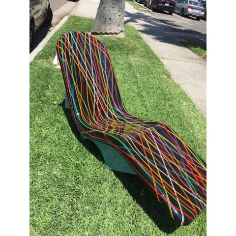 Mid-Century Fibrella Lounger Art Piece - Image 3 of 6