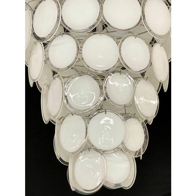 Glass Pair of Mid-Century Modern Style Murano Glass Chandelier For Sale - Image 7 of 10