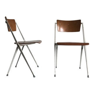 Pair of Mid-Century Friso Kramer Chairs For Sale