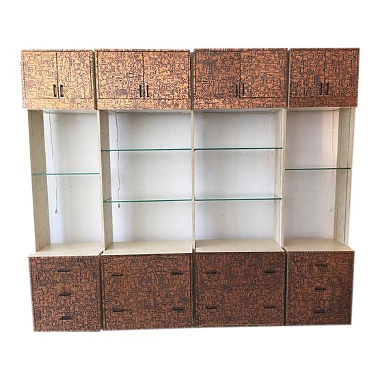 Brutalist Bookcase Wall Unit - Set of 4 - Image 1 of 8