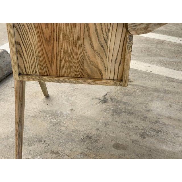 Kidney Biomorphic Shaped Oak Desk For Sale - Image 12 of 13