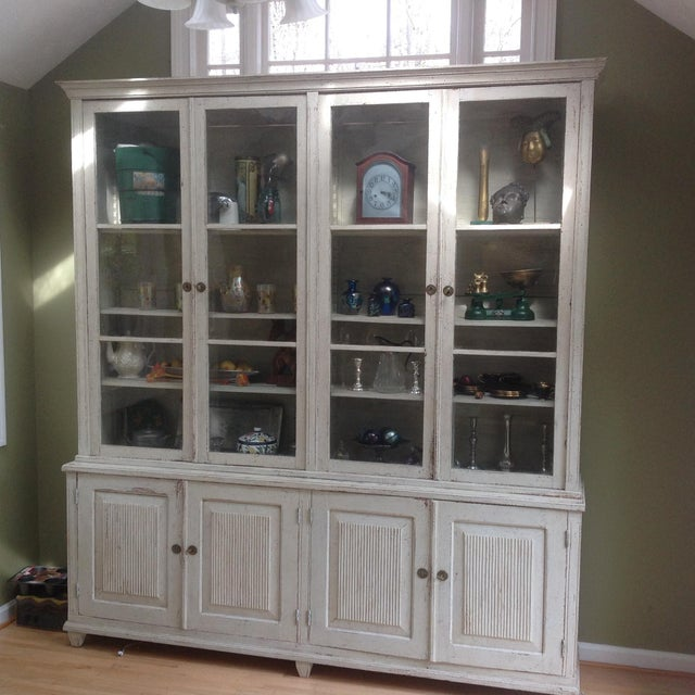 Gustavian Book Case Cabinet - Image 3 of 7