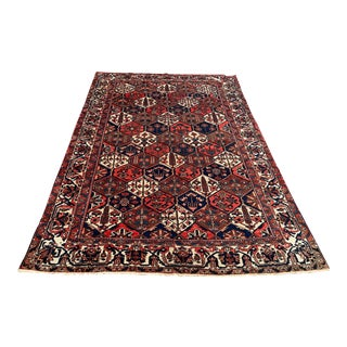 1970s Vintage Turkish Pictoral Rug-6′9″ × 9′8″ For Sale