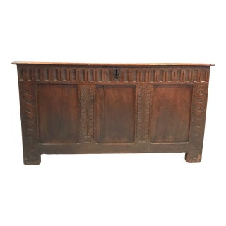 Early 18th Century British Coffer Blanket Chest For Sale