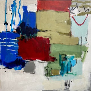 """Abstract Expressionist Mixed Media Painting by Gina Cochran """"Moral Never Never Land"""" For Sale"""