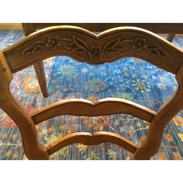 French Country Pierre Deux French Country Dining Chairs - 6 For Sale - Image 3 of 11