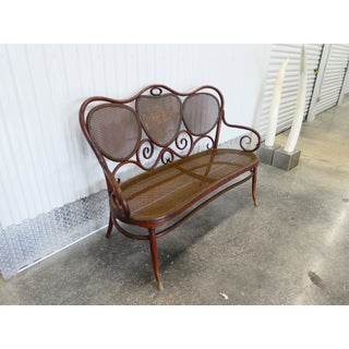 Late 19th Century Vintage Gebruder Thonet Bentwood Austrian Art Nouveau Settee Preview