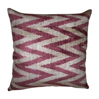 Flame Stitch Silk Velvet Ikat