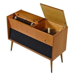 Grundig Majestic M11 Turntable Console Stereo Cabinet Credenza With Turntable For Sale