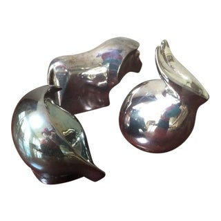 Trio of Dansk Silver Plated Paper Weights or Sculptures For Sale