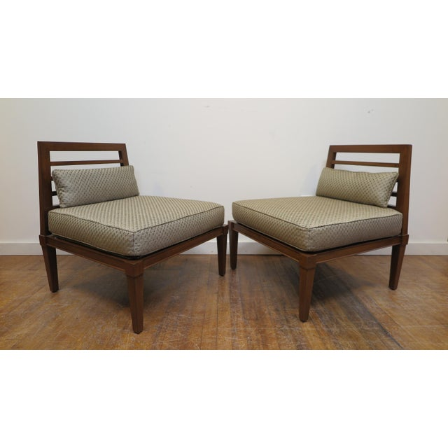 Brown French Mid century Chairs in the Style of Andre Arbus For Sale - Image 8 of 9