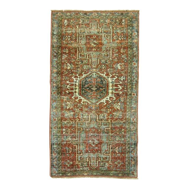 """Antique Persian Heriz Rug - 2'1"""" x 3'9"""" - Image 1 of 5"""