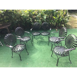 1940's Vintage French Sunburst Francois Carre Garden Furniture-Set of 5 Preview