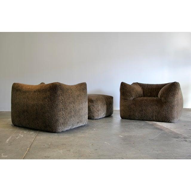 """1970s Mario Bellini """"Le Bambole"""" Chairs & Ottoman For Sale - Image 11 of 13"""