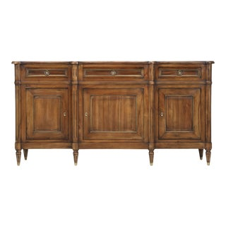 Vintage French Louis XVI Style Solid Walnut Buffet For Sale