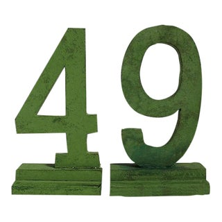 49 Numbers - Set of 2 For Sale