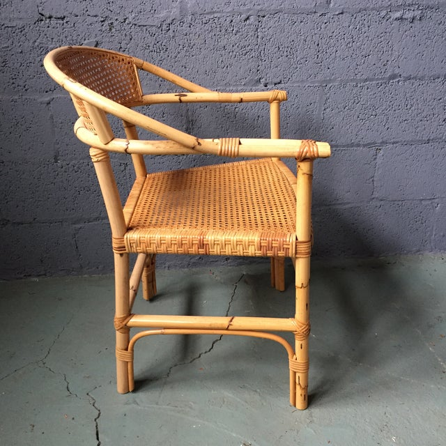 Bamboo and Cane Dining Chairs - Set of 4 - Image 8 of 11