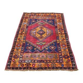 Antique Nomadic Hand-Knotted Anatolian Carpet - 3′10″ × 5′9″