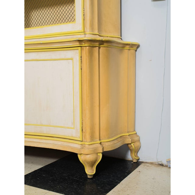 1960s painted Italian cabinet once owned by Elizabeth Taylor when she was married to Eddie Fisher. Finish of paint is...