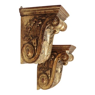 Acanthus Leaf Wall Brackets - a Pair For Sale