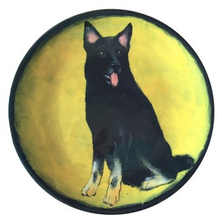 Rainbow Gate Black German Shepherd Plate