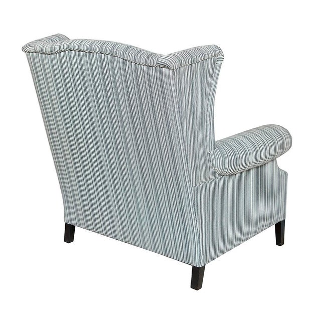 This studded pair of pinstriped wingback chairs is a sophisticated addition to any space. They can be sold separately or...