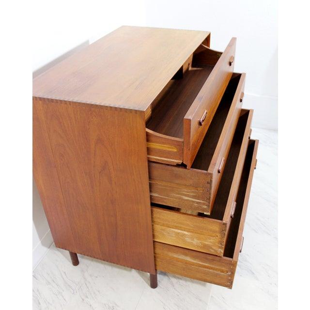 1950s Mid-Century Danish Modern Peter Hvidt Teak Vanity Dresser Cabinet For Sale - Image 11 of 13