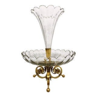 Antique French Baccarat Crystal Centerpiece Epergne, Circa 1880. For Sale