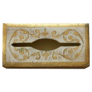 Vintage Italian Florentine Tissue Box