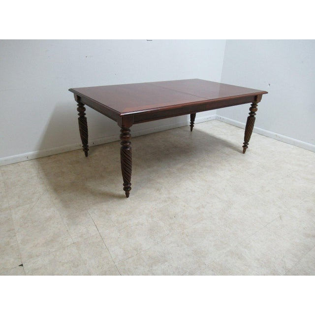 Ethan Allen British Classics Carved Dining Room Conference Table - Conference table measurements