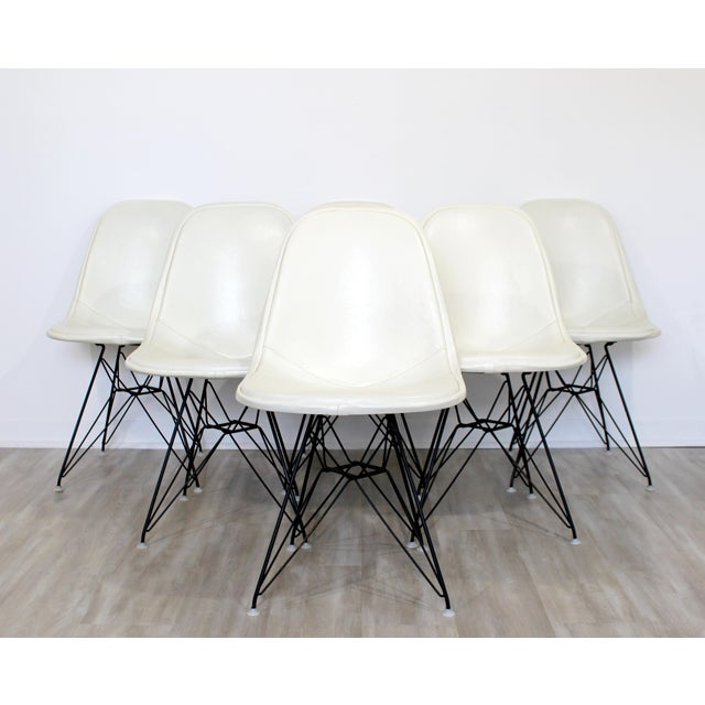 Mid Century Modern Eames Herman Miller Eiffel Tower Dkr Side Chairs 60s - Set of 6 For Sale - Image 11 of 11