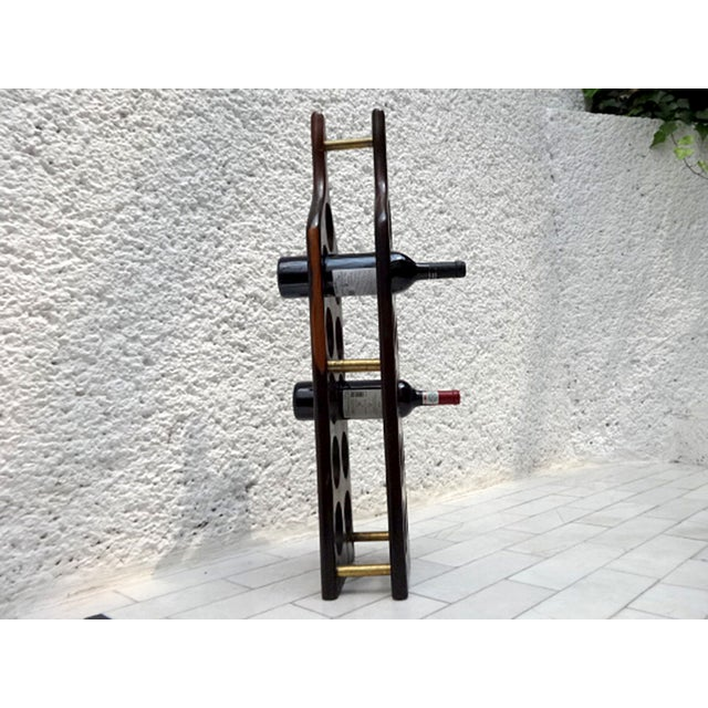 Mid-Century Modern Cocobolo Wine Rack For Sale In San Diego - Image 6 of 7