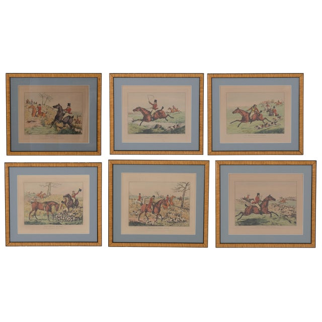 1825 English Hunting Prints by Henry Alken, London - Set of 6 For Sale - Image 12 of 12