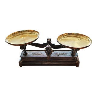 French Brass and Cast Iron Scale