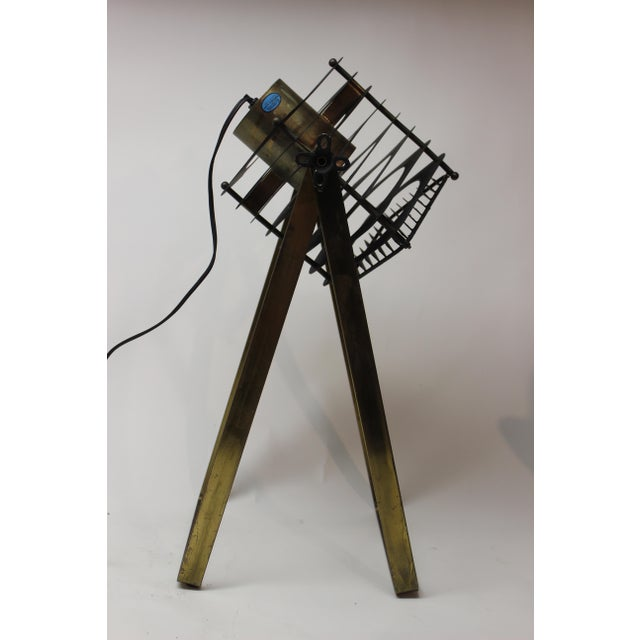 Industrial Custom Curtis Jere Table Lamp For Sale - Image 3 of 8
