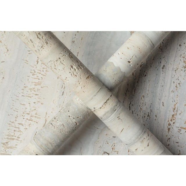 Modern Original Ocean Travertine Console by Clement Brazille For Sale - Image 3 of 13