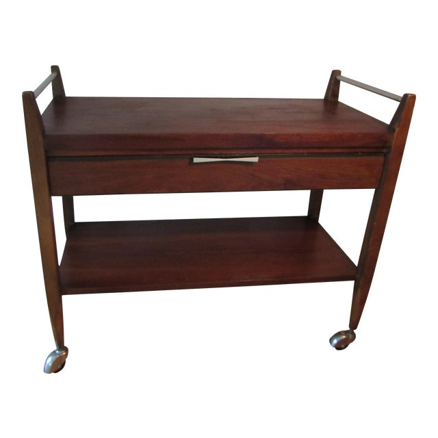 Mid-Century Modern American Lane Altavista Bowtie Bar Cart For Sale
