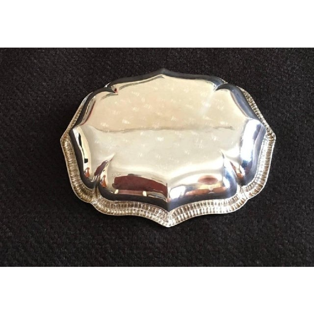Mid-Century Modern Silver Plate, 1978 For Sale - Image 3 of 6